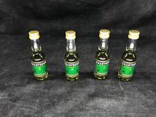 Chartreuse verte 55% , lot de 4 mignonettes 3cl neuves jamais ouvertes