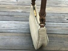 Fossil Hand Bag Purse Mini Leather Woven Mini Shoulder Bag 75082 Genuine Fossil