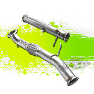 FOR 04-10 VOLVO C30/C70/S40/V50 2.5L TURBO STAINLESS EXHAUST DOWNPIPE SET