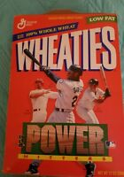WHEATIES POWER HITTERS MARK MCGWIRE KEN GRIFFEY JR TINO MARTINEZ CEREAL BOX,FLAT