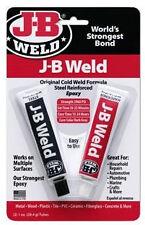 JB WELD J-B WELD ADHESIVE COLD GLUE METAL WOOD PLASTIC TILE PVC CONCRETE REPAIR