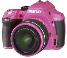 Pentax K-50 16.3MP Digital SLR Pink Camera Kit w/ Pink 18-55 AL WR Lens