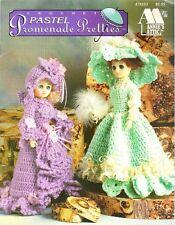 "Crochet 15"" Pastel Promenade Pretties Fashion Doll Dresses Annie's Attic #878503"