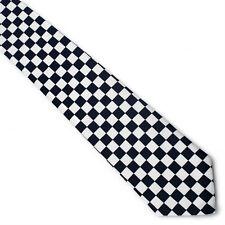 New Retro  Black & White Checkered Check Tie indie rock USA SELLER