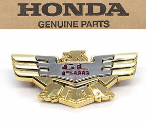 Side Cover Emblem GL1500 Goldwing SE Aspencade OEM Honda Badge 83606-MT8-770 B99