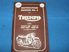 NOS Triumph Instruction manual No. 4  for models up to 1963         0149