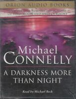 Michael Connelly A Darkness More Than Night 4 Cassette Audio Book Crime Thriller
