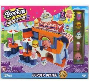 "Shopkins 37365 ""Wave 2 Kinstructions Scene Burger Bistro"" Building Set 159 Pcs"