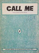 CALL ME. -  TONY HATCH. -  SHEET MUSIC