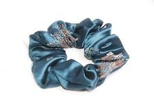 Elegant Women Elastic Turquoise Hair Band with Flowery Pattern Great Gift (S271)