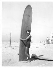 Surf girl Vintage  Art Print Poster For Glass Frame Black White Surfing Boards