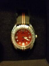 Croton CX2 Mens Precision Timepiece Orange, w/ genuine leather Strap
