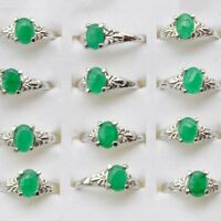 10pcs Charm Wholesale Mixed Lots Natural Stone Silver Plated Rings Jewelry