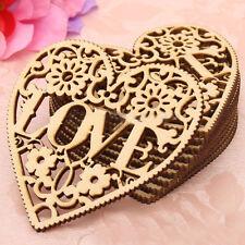 1PC Hollow Out Wooden Love Heart Decor DIY Handcrafts Scrapbook Gifts