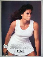 Gabriela Sabatini for Milk PRINT AD - 1990 ~~ milk moustache, tennis