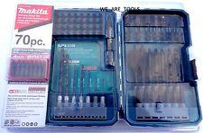 NEW Makita 70 Pc Drill Driver Impact Black Oxide Bit Set T-01725 Contractor Grad