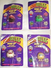 MAD BALLS WINDUP SET OF 4 MONSTER WKW TOYS 1986ANTIQUE Cards have dings creases