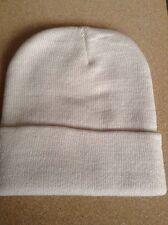 Men's Women Beanie Knit Ski Cap Hip-Hop BEIGE Winter Warm Unisex Hat