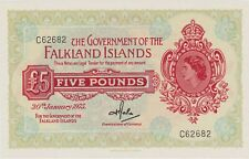 More details for superb p9b falkland islands five pounds banknote in mint condition dated 1975