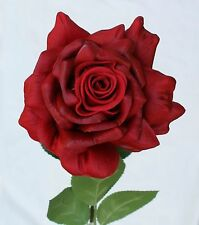 Künstl. Rose Rot Baccara Real Touch ca. 83 cm - 3 Stück