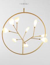 Nordic Post Modern Branch PVC Chandelier Brass Finish G4 Light Ceiling Lamp