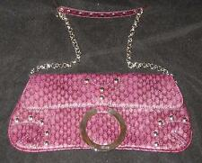 """GUESS 12"""" PURPLE SNAKE PRINT PURSE WITH CHAIN STRAP CLUTCH/PURSE"""