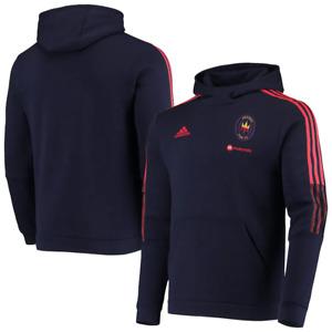 Chicago Fire FC MLS 2021 Men's Adidas Team Travel Pullover Hoodie - Navy