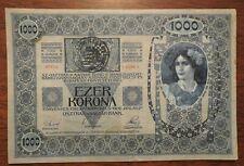 Austria Hungary 1902 1000 Ezer Korona Tausend Kronen Stamp Transylvania P-8