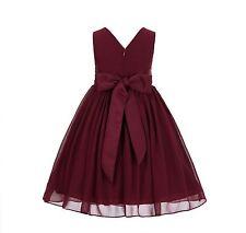 Yoryu Chiffon V-neck Bodice Flower Girl Dress Wedding Reception Occasions 1503NF