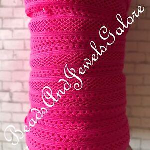 Hot pink mesh foe hot pink mesh elastic pink mesh hair ties hot pink foe-5/8