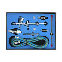 KKmoon Professional Dual Action Gravity Feed Airbrush Nozzle Kit 1.8m Hose K6C0
