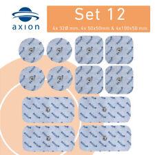 12 TENS Elektroden Pads Mischset für Sanitas SEM Beurer 4*5x5cm;4*10x5cm;4*Ø32mm