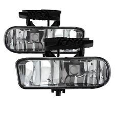 GMC 99-02 Sierra 1500/2500/3500 Clear Bumper Fog Lights w/ Bulbs 00-06 Yukon