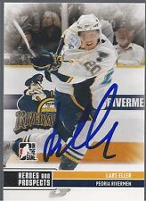 Montreal Canadiens LARS ELLER Signed Heroes & Prospects Card