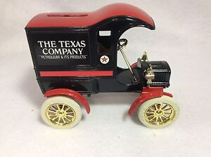 Texaco 1905 Ford Delivery Car Diecast Bank Stock # 9321UO BOX 1987 Includes Key