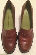Women's MARTINEZ VALERO loafers/ Heels Brown Leather Size 7.5 B