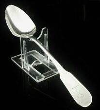 Irish CRESTED Antique Silver Dessert Spoon, James England, Dublin 1819 WEST