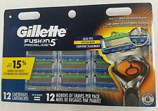 Gillette Fusion 5 Proglide Refill Razor Blade Cartridges, 12 Ct Also fits Power