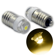 10x E10 LED Screw Warm White 12V COB 0.5W 100LM Torch Light Car Interior Bulb