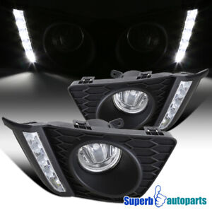 For 2015-2017 Honda 15-17 Fit LED DRL Fog Lights Bumper Lamps W/ Switch Pair