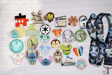 Disney trading 25 pin lot + Dark Blue Stitch LANYARD HM booster Star Wars Tsum