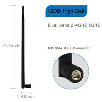 12dBi RP-SMA 2.4GHz 5GHZ High Gain WiFi Router Antenna for Wireless IP Camera