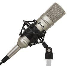 LyxPro Cardioid Condenser Studio Microphone, Mount, XLR Cable & Foam Wind Screen