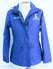 Womens NFL Issued Blue Jacket Sz M Medium Super Bowl XLVII Baltimore Ravens