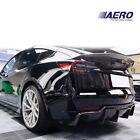 For 17-20 Tesla Model 3 Vspec Carbon Fiber Rear Diffuser Lip 1pc - AERO