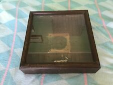 Vintage Wood Display Case Former Clock Case