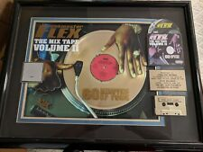 Rare Funkmaster flex gold record 28''x 22'' Rap Music Award Mixtape Vol 2 RIAA