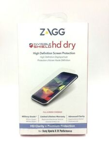 2 x ZAGG InvisibleShield HD Dry Screen Protector For Sony Xperia x/x Performance