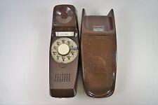 Vintage ITT Trimline Rotary Brown Wall Mount Phone