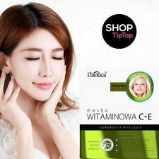 L'BIOTICA VITAMIN C + E CLOTH MASK Natural Vitamins Face Care Paraben Free Skin